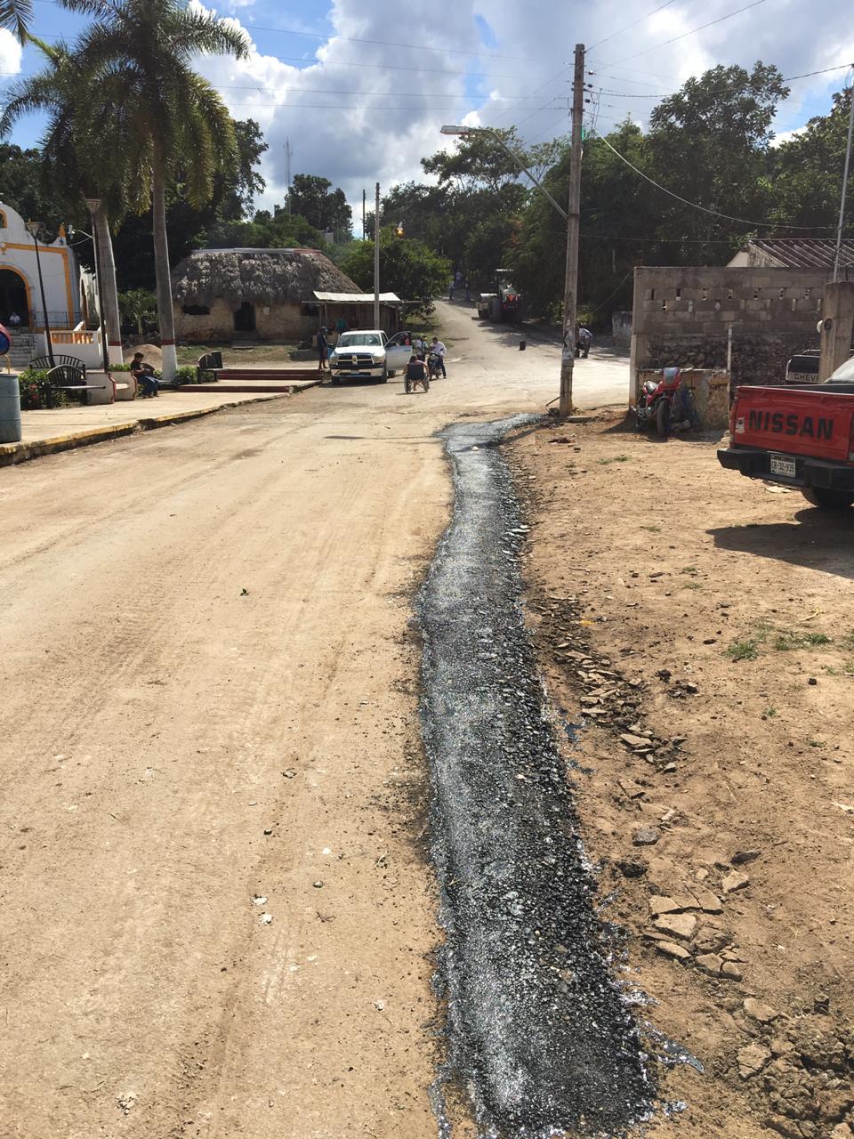AYUNTAMIENTO DE CAMPECHE CONSTRUYE LAS PRIMERAS CALLES BLANCAS EN EL ÁREA RURAL
