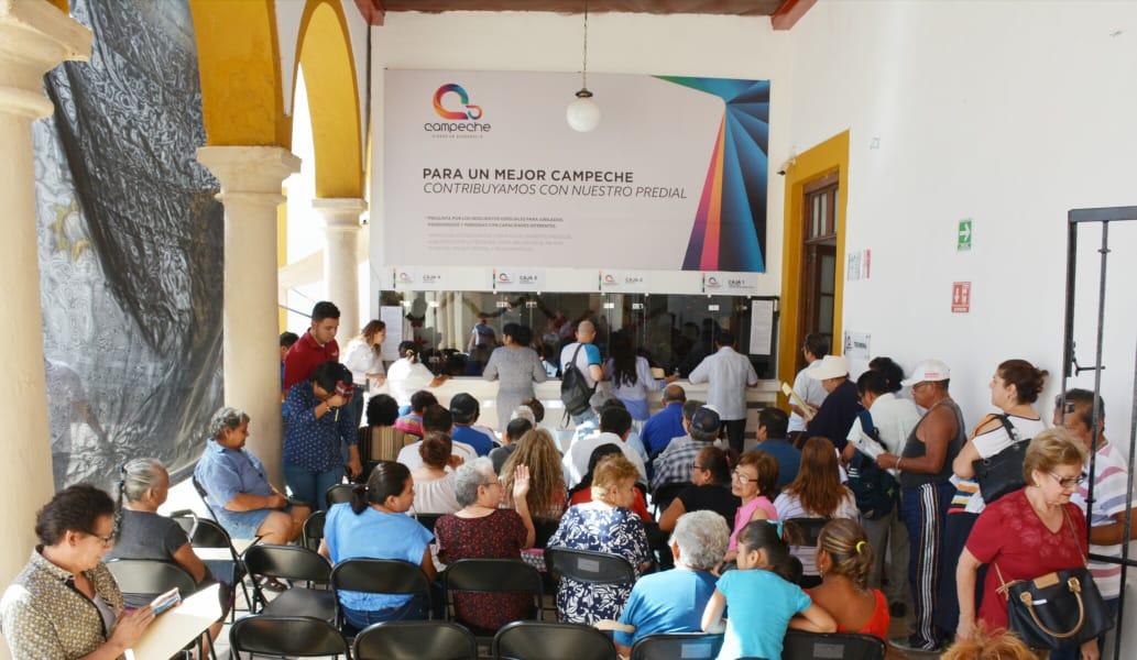 REALIZAN COBROS DE PREDIAL Y AGUA POTABLE EN PRIMER DÍA DE LABORES DEL H. AYUNTAMIENTO DE CAMPECHE